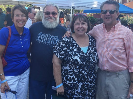 Funk in the City Sure, it was pretty warm outside, but that did not keep the crowd down at the this year's Haynie's Corner Arts Festival. Among the guests were United Neighborhood leaders Jenny and Bob Thomas flanked by Carol McClintock and her husband Mayor Lloyd Winnecke.
