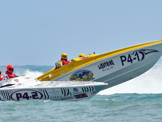 Powerboat races will hit speeds of up to 180 miles depending on wave and wind conditions during the Thunder om Cocoa Beach.