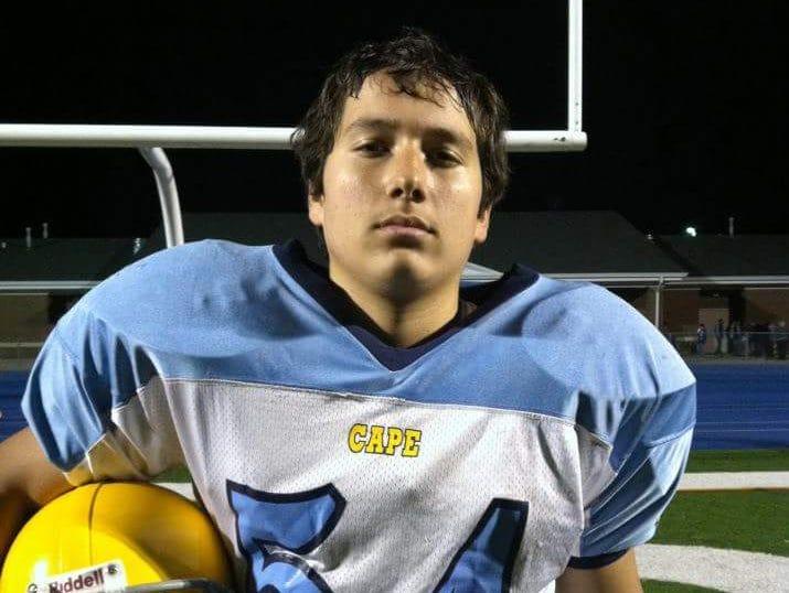 Julian Medina in eight grade.