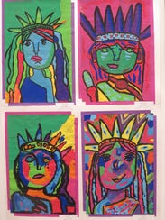 Peter Max-style paintings are often big hits at the