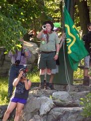 Bugler Scott Freier of The Old Guard of Camp Glen Gray