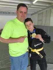 Dylan Hasbrouck and father, Jason Hasbrouck.