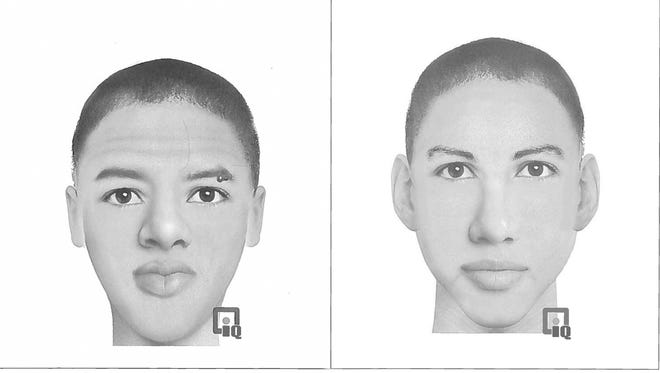 These composite photographs depict the two men suspected of an attempted robbery that a woman reported in the Creekside Park area last week.