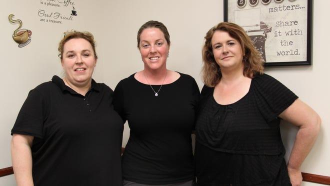 From left: Jennifer Lapinsk, Deanna Irvine,  and Cindy Donovan.