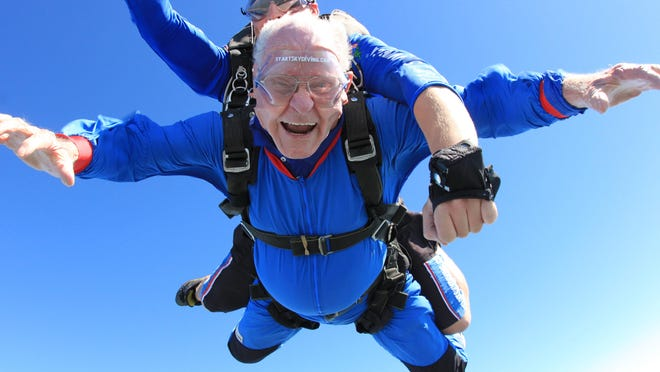 """John Gillespie said skydiving was """"awesome."""""""