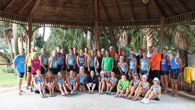 Many of the participants of the Beachside Triathlon Spring training camp will compete in this weekend's Boardwalk Triathlon in Indialantic.