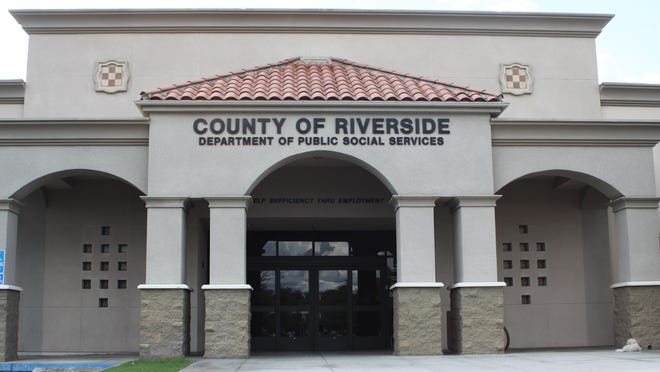 A Riverside County Department of Public Social Services building in Rubidoux.