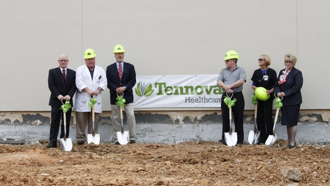 Members of Tennova Healthcare-Regional Jackson broke ground Tuesday for its surgical suite expansion.