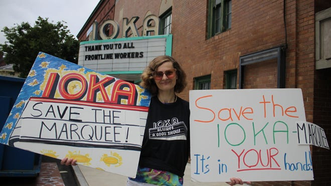 Laurie A. Couture started a petition calling on the Historic District Commission to prohibit the Ioka's new owners from removing its marquee as part of a redevelopment project.