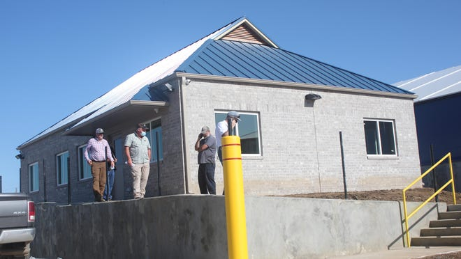The new office building at the Port of Fort Smith, seen Thursday, Sept. 24, 2020, is at an elevation it will not flood even if water reaches the level it did in 2019.
