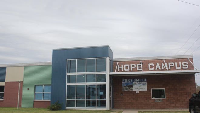 The Riverview Hope Campus at 301 South E St. in Fort Smith is expanding with help from a $1 million CARES Act grant. The facility has been open three years as of September. It is seen here on Oct. 15, 2020.