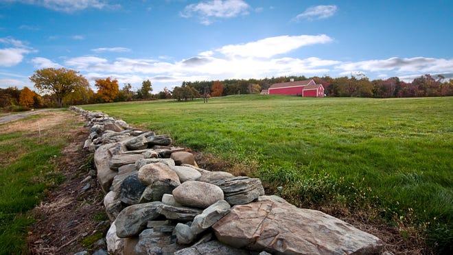 A pastoral scene at Fruitlands Museum in Harvard.