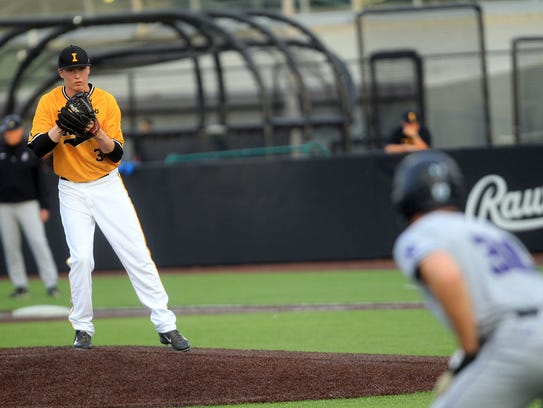 Tyler Peyton leads the Hawkeyes in innings pitched