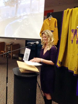 Jodi Edens-Crocker, executive director of the Western New Mexico University Foundation, opens the 123rd anniversary celebration at WNMU on Thursday.
