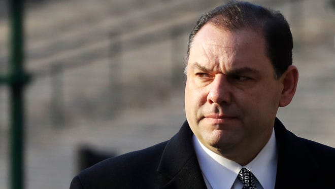 Joseph Percoco, a former aide to New York Governor Andrew Cuomo, arrives at federal court as the jury continues to deliberate in his corruption trial, Monday, March 5, 2018, in New York. Prosecutors say Percoco solicited over $300,000 in bribes from the businessmen who needed help from the state. A defense lawyer says Percoco never took a bribe.