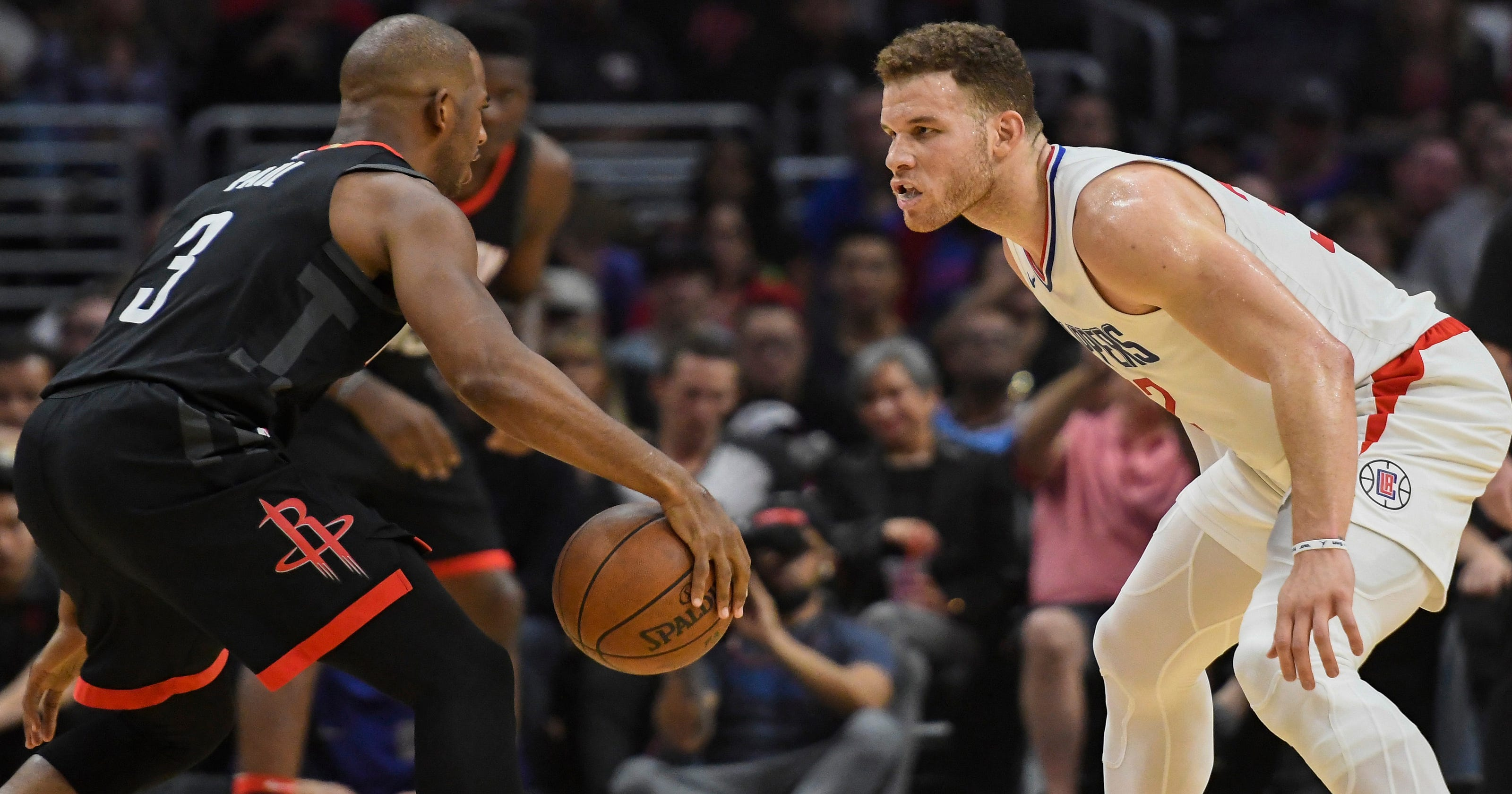 177267a45 Blake Griffin ejected as L.A. Clippers beat Houston Rockets in Chris Paul s  return