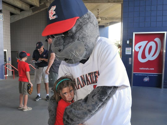 So this is goodbye. Baseball fan Zoey Leto, 5, gets