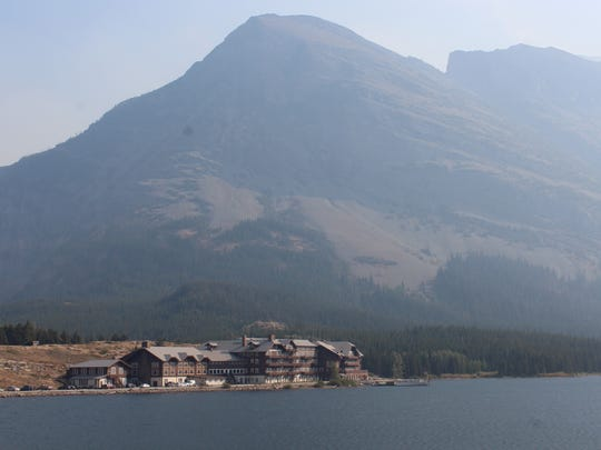 The Many Glacier Hotel, a Swiss-style chalet, was built in 1915 by Great Northern Railway president Louis W. Hill.