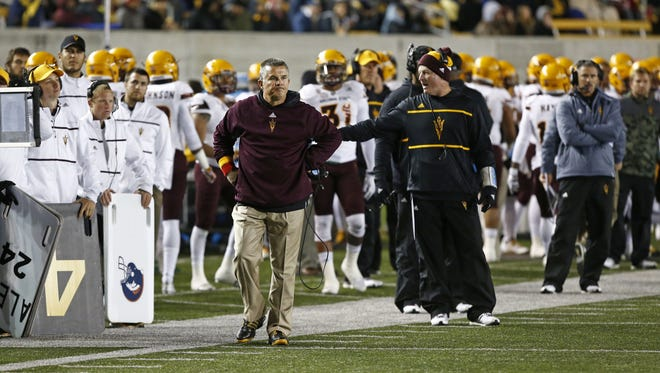 Arizona State head coach Todd Graham during his loss to Cal 48-46 on Nov. 28, 2015 in Berkeley, Calif.
