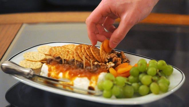 Appetizer tray.