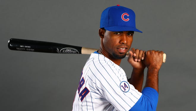 Chicago Cubs infielder Arismendy Alcantara poses for a portrait during photo day at the training center at Sloan Park.