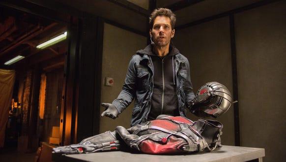 Scott Lang (Paul Rudd) steals a suit that changes his