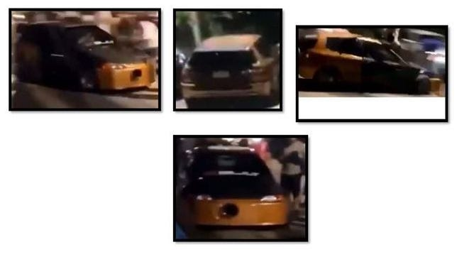 Taunton police are trying to identify a car they say was street racing when a group of people watching the race were hit by a racer who lost control on Aug. 2, 2020.   Taunton Police photo