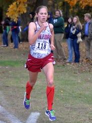 Milford's Rachel Barrett, shown winning the 2013 regional