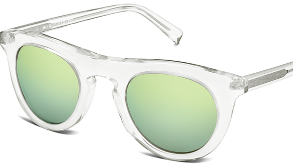 Warby Parker's Ketchum sunglasses in crystal.