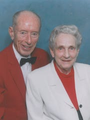 Mary Thomas and her husband, Howard, were married in