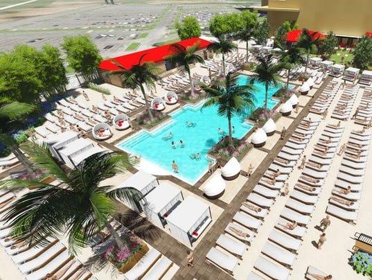 Atlantic city 39 s borgata hotel casino spa adding 3 200 for Average square footage of a pool