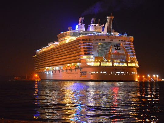 Royal Caribbean's Oasis of the Seas at Port Canaveral