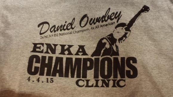 Daniel Ownbey was back at his former high school on Saturday to conduct the Enka Champions Clinic.