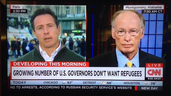 "Gov. Robert Bentley claimed ""major threats"" from refugee"