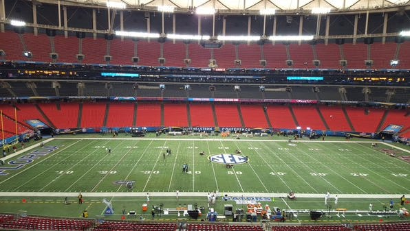 Alabama will look to win back-to-back SEC titles today at the Georgia Dome.