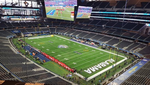 Here at AT&T Stadium for Alabama-Michigan State.