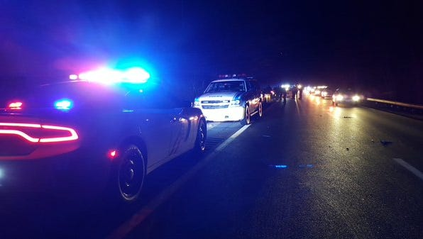 In this December 2015 file photo, Palisades Interstate Parkway police respond to a scene.