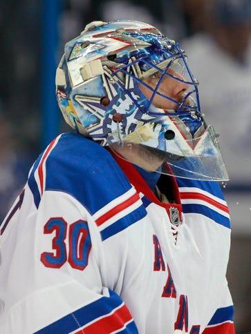 New York Rangers goalie Henrik Lundqvist has allowed