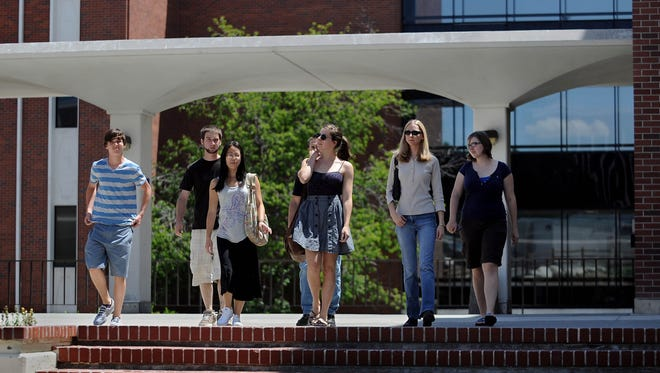UNR students walk out of the chemistry building on the UNR campus in this photo from 2011.