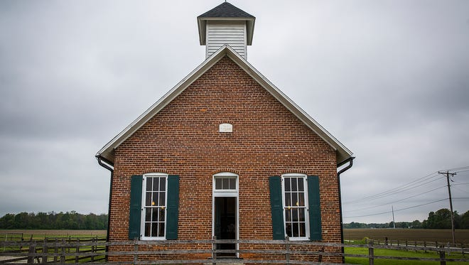 The Corinth School, a restored one-room schoolhouse built in 1875, is the last single-room schoolhouse standing in Delaware County.