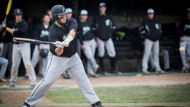 Yorktown's Anthony Todd bats against Daleville during their game at Yorktown High School Saturday, May 14, 2016.