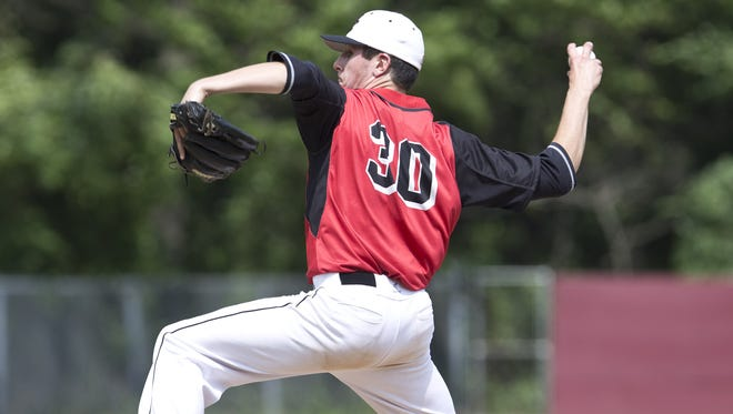 Hunterdon Central starting pitcher Peter Woltersdorf. Hunterdon Central defeats Morristown in the NJSIAA Group IV baseball final. Toms River, NJ Saturday, June 11, 2016 @dhoodhood