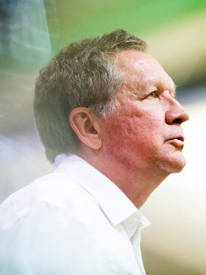 Ohio Governor John Kasich talks to students and community members at Dartmouth College in Hanover, New Hampshire Monday, January 18, 2016.