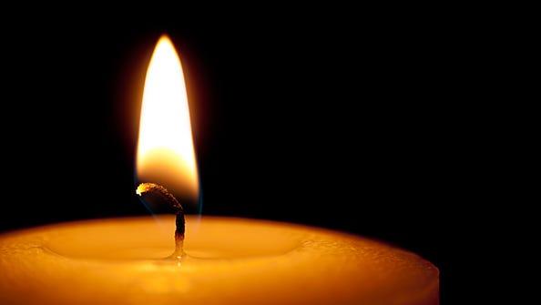 Death notice candle.
