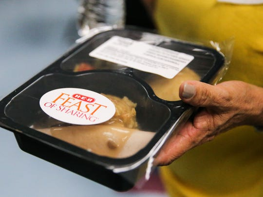 H-E-B partnered up with Meals for the Elderly to deliver holiday meals Tuesday, Oct. 31, 2017, in San Angelo.