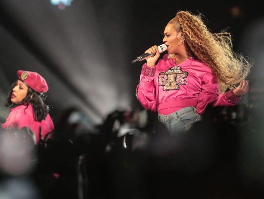 Apr 21, 2018; Indio, CA, USA; Beyonce performs during