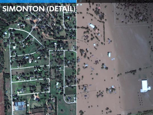 Hurricane Harvey Satellite Images Of Massive Flooding - Satellite picture of