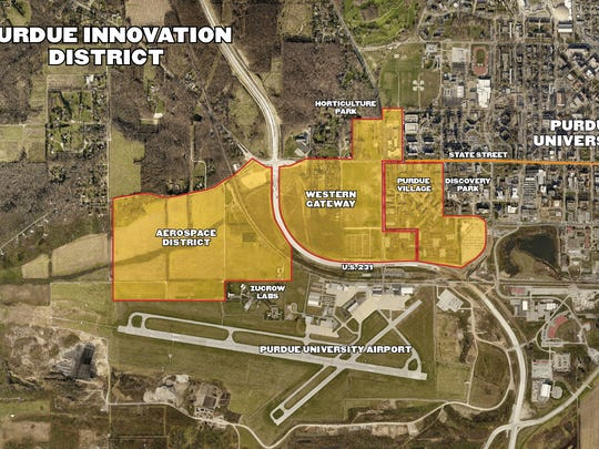 This map shows the outline of a project Purdue is dubbing