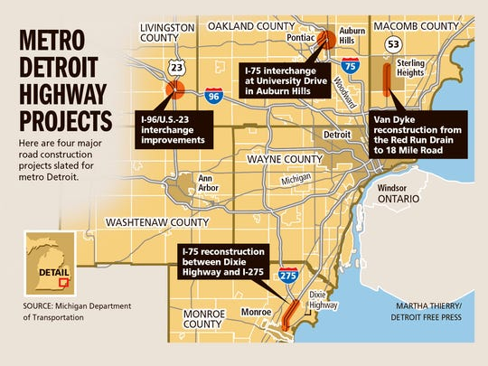 Metro Detroit highway projects