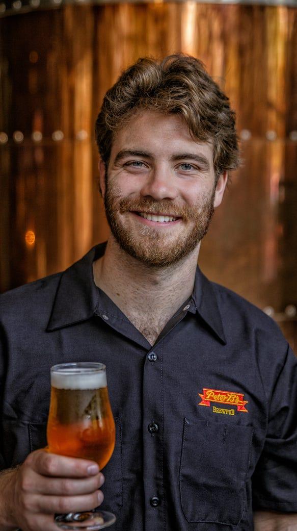 Justin Rivard is the head brewer at Peter B's Brewpub,